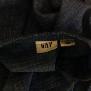GAP Tops - Gap Top Womens Medium Button Ruffle Blue